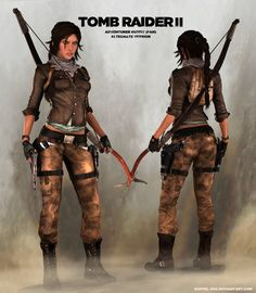 TOMB RAIDER 2: Lara Concept Outfit (alternate) by doppeL-zgz on DeviantArt