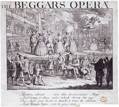 Hogarth's picture of the Beggar's opera, they are wearing animal head masks
