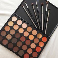 Morphe 35O palette ft. some of my favorite Morphe eye brushes wearyraised_handsskin-tone-3 I went to hell & back to finally have this palette in my hand & it's so worth it, perfect for Fall fallen_leafleaves I also posted live swatches on my snapchat! So you can see the realness of the pigmentation blush Username is DuyenL. Let me know if you guys want a brush break down so I can explain how I use them & what not grinkissing_heart P.S. I'll be doing a look with this palette today so stay…
