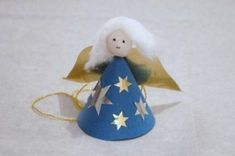 Austrian paper angel tutorial.  Uses a couple extra items:  a samll bead for the head, some cotton, and stick-on stars or paint.  whimsical!