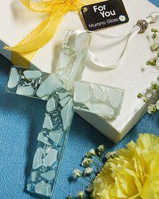 Murano Glass  Collection hanging white cross favors $1.36 #MuranoFavors #wedding #weddingfavor #favor #bridal #bridalshower #babyshower #shower #gift #sale http://www.bluerainbowdesign.com/WeddingFavorProduct.aspx?ProductID=PR10051117499900123456789XBRD66574=WEDDI=GROUP=WMURA