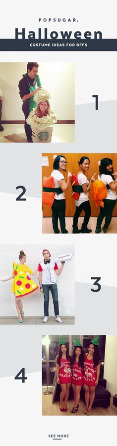 We've found the best Halloween food costumes for BFFs or couples. They're all treats, not tricks.