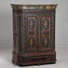 A Swedish Cupboard with Original Paintwork circa 1760 -