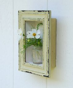 picture box vase  distressed frame and mini by barefootblue.