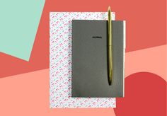 Journal by o-check design - line dot notebook by HAY