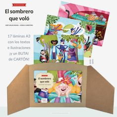 El sombrero que voló - KAMISHIBAI (láminas A3) + butai de cartón | Pintar-Pintar Editorial 29,50€ Three Letter Words, Art 3d, Editorial, Lettering, Libros, Illustrations, Sombreros, Drawing Letters, Brush Lettering