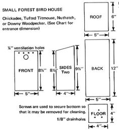 Free Bird House Plans for Purple Martins, Bluebirds, Swallows