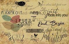 Fade Into You- Typographic Song Lyrics