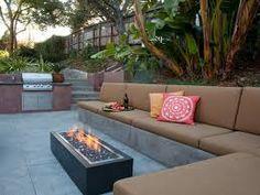 outdoor inbuilt seat - Google Search