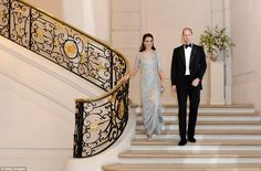 It was a whirlwind day for William and Kate.The pair, on their first official visit to the city since the death of William's mother Princess Diana twenty years ago, finished the evening at the British Ambassador's residence