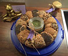 Rezept Brötchenkranz Brötchensonne Partysonne von SternschnuppeSTD - Rezept der Kategorie Brot & Brötchen