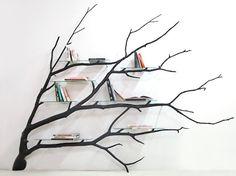 Tree branch shelving