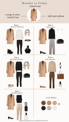 5 ways of styling camel coat for fall winter Camel coat outfit winter styl. - 5 ways of styling camel coat for fall winter Camel coat outfit winter style. Camel coat casual and classy style. Fall Winter outfits for Fashion Trends Work outfits Winter Coat Outfits, Fall Outfits For Work, Winter Fashion Outfits, Autumn Fashion, Winter Coats, Winter Office Outfit, Winter Travel Outfit, Classic Fall Fashion, 2018 Winter Fashion Trends