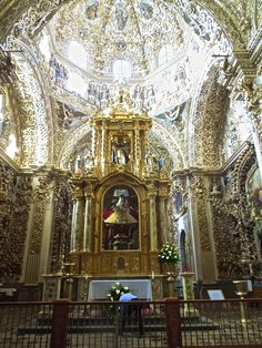 MEXICO // Puebla, Gold-Leaf Rosary Chapel in Church of Santo Domingo #see