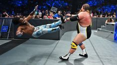 One-half of each tandem in the SmackDown Tag Team Title Match at WWE Extreme Rules clash in a contentious Triple Threat Match. Xavier Woods, Daniel Bryan, Wwe News, Wwe Photos, Wwe Superstars, Tandem, New Day, Brand New Day, Tandem Bikes