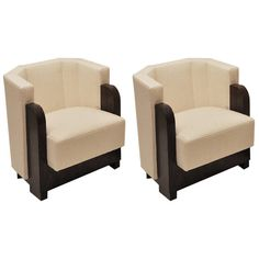 Pair of Art Deco Armchairs by Michel Dufet 1