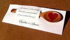 Segnaposto matrimonio con cucchiaio di legno - Impronte sulle Nuvole
