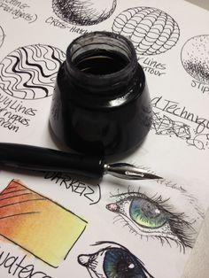 Pen & Ink techniques lesson