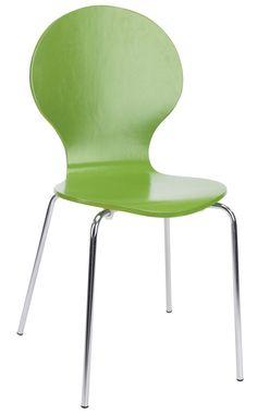 Krzesło RUBEN chrom limonka w JYSK.