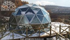 6m Winter igloo dome for glamping - Glass glamping dome - Glass dome garden - Glass dome home for sale - Glass geodesic dome - Garden igloo dome - Shelter Dome (1)