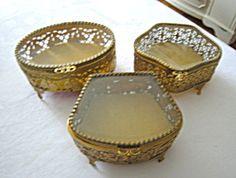 Vintage vanity box trio for sale at More Than McCoy on TIAS!