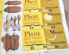 Vintage 50's Dish Towel or Tea Towel  Linen by momodeluxevintage, $25.00