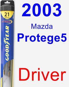 Driver Wiper Blade for 2003 Mazda Protege5 - Hybrid