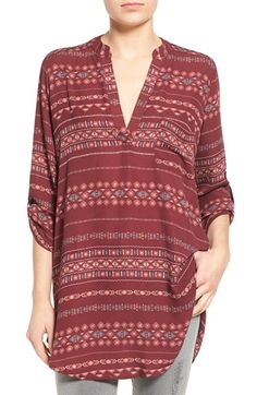 Lush 'Perfect' Roll Tab Sleeve Tunic available at #Nordstrom