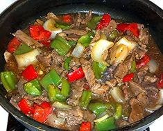 Mom's Pepper Steak ....serve over rice THIS is how pepper steak is suppose to taste. great Recipe....