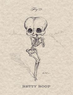 How funny! Betty Boop skeleton... @Abbey Adique-Alarcon Adique-Alarcon Adique-Alarcon Liero