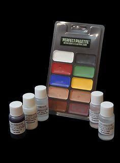 Prosthetics & Halloween Makeup Materials :: Complete FX Make Up Artist Kit - $68.22