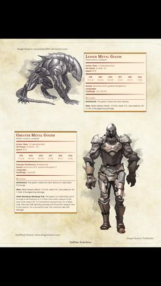I don't know why but I thought it have better stats.... Metal golem warforged