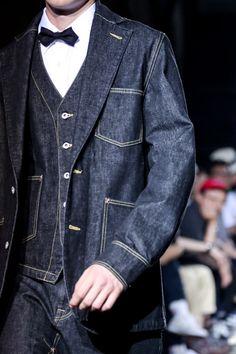 Denim Suit, Denim Blazer, Denim Jacket Men, Men Shorts, Denim Jackets, Men's Jeans, Raw Denim, Men's Denim, Denim Style