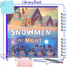 """Come Do Some Snowman Writing Prompt Crafts With Me Do you read the story """"Snowmen At Night"""" by Carolyn Buehner? Winter Crafts For Kids, Winter Kids, Kids Crafts, Preschool Winter, Toddler Preschool, Winter Snow, Winter Activities, Book Activities, Preschool Books"""