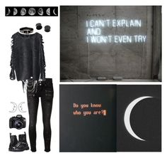 """""""Tired."""" by x-shadow-phoenix-x ❤ liked on Polyvore featuring Paige Denim, Dr. Martens and Eos"""