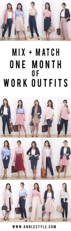Monthly Work Outfit Ideas | Style Mix + Match – Ann Le Style #work_style_capsule_wardrobe