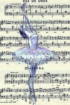 Fine art Ballet print on sheet music Dance Like No One Is Watching, Just Dance, Art Ballet, Ballet Music, Ballet Dancers, Ballet Shoes, Illustration Mode, Sheet Music, Piano Sheet