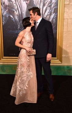 Actors Evangeline Lilly and Lee Pace arrive at the Premiere Of New Line Cinema, MGM Pictures and Warner Bros. Pictures' 'The Hobbit: The Battle Of The Five Armies' at Dolby Theatre on December 2014 in Hollywood, California. The Hobbit Thranduil, O Hobbit, Legolas, Evangeline Lilly, Lee Pace Girlfriend, Tolkien, Elf King, New Line Cinema, The Hobbit Movies