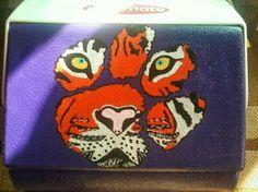 Clemson tiger paw tiger cooler
