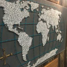 Diy string art world map ideas for the house pinterest diy string art string art world map map of the world world map wall art wood world map push pin large world map world travel map gumiabroncs Choice Image
