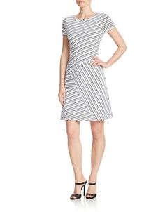 Brands | Dresses | Contrasting Stripe Dress | Lord and Taylor