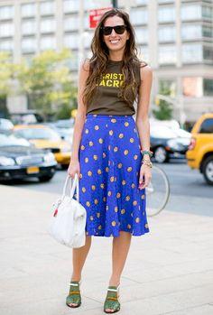Polka Dot Skirt & Graphic Tee!