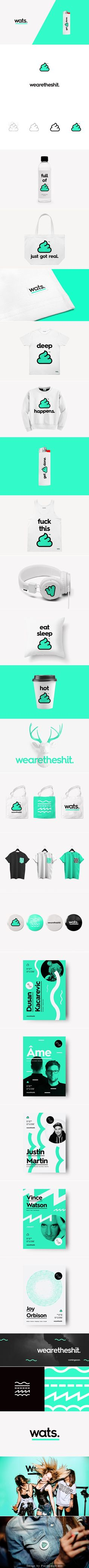 Wearetheshit™ is a small, but warm, lounge bar and nightclub located at the top of the shopping center in Belgrade. Using only black and mint, Miki Stefanoski and Anastazija Manasievska developed the full brand identity, logo, promo materials, templates and merchandise that would establish a catchy, but strong and flexible look that is easy to build upon at every future event.
