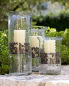 GG Collection Glass Candleholders - home decor / candles & holders