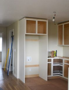 Owner Building a Home: The Momplex | Boxing in Fridge with Cabinetry - Momplex Vanilla Kitchen