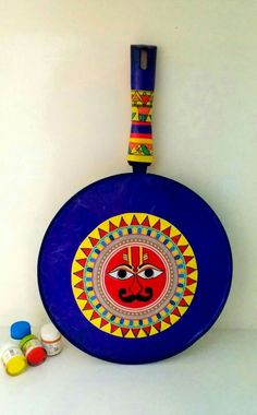 Indian Wall Art, Indian Artwork, Indian Art Paintings, Madhubani Art, Madhubani Painting, Worli Painting, Painted Spoons, Rajasthani Art, Kitchen Canvas