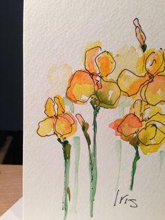 Iris Watercolor Card