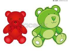 2 Cute Teddy bear cartoon vector