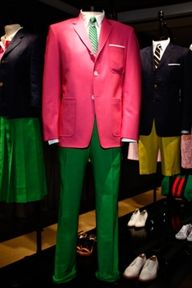 Pink & green men's outfit