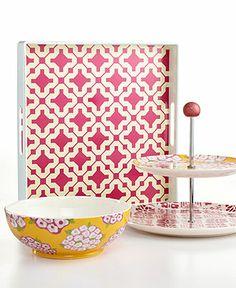 Martha Stewart Collection Poppy Mix & Match Serveware Collection - Serveware - Dining & Entertaining - Macy's